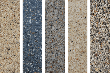 exposed aggregate swatches