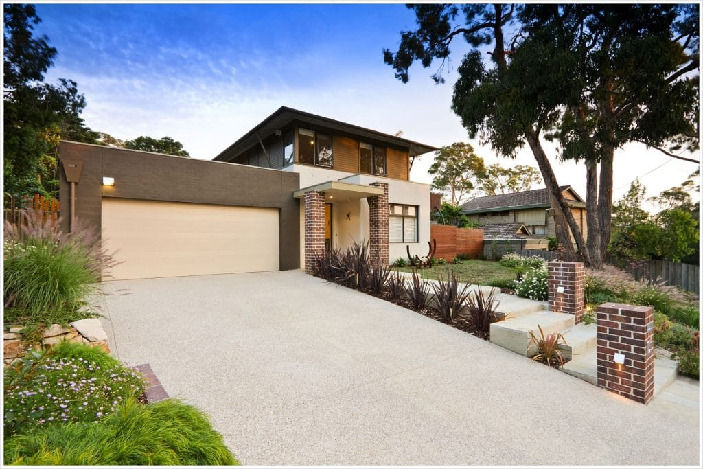 Exposed Aggregate Driveway in Mount Waverley
