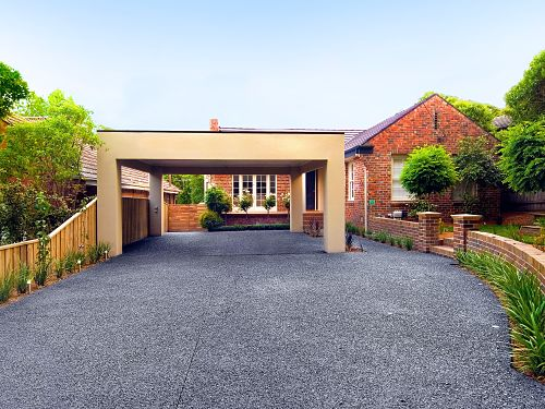 Box Hill Exposed Aggregate Driveway