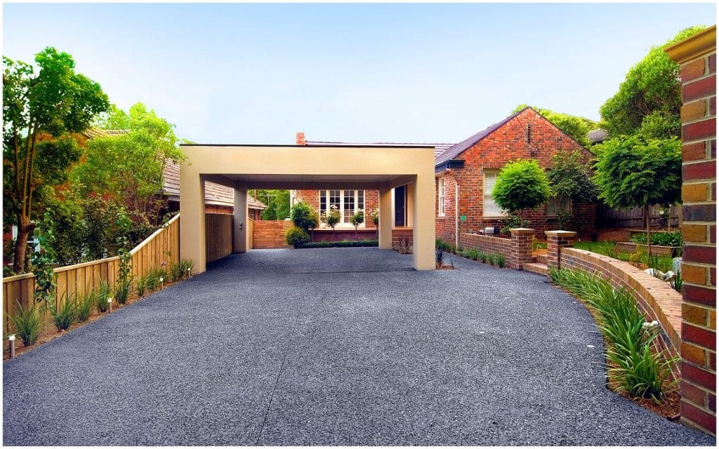 Exposed Aggregate Driveway in Box Hill