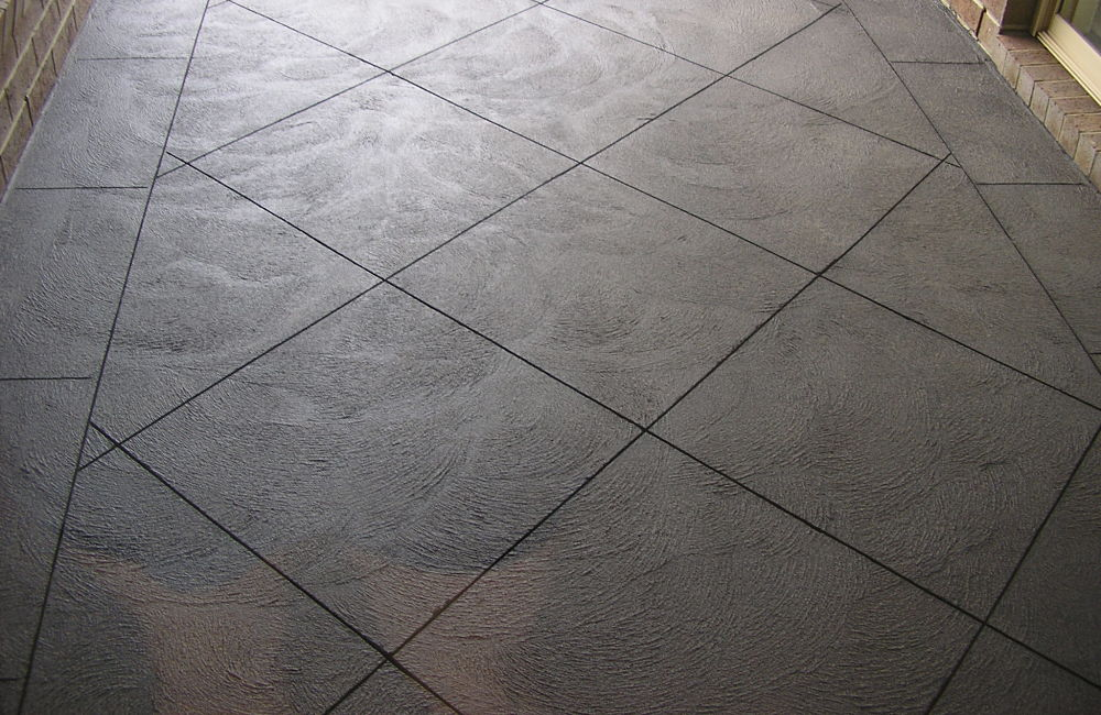 Pave Cut Diamond Pattern Coloured Concrete path